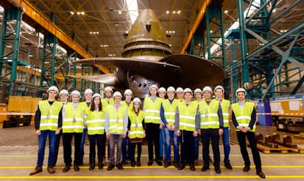Power of the Future national competition winners visited the Power Machines low-speed turbine complex