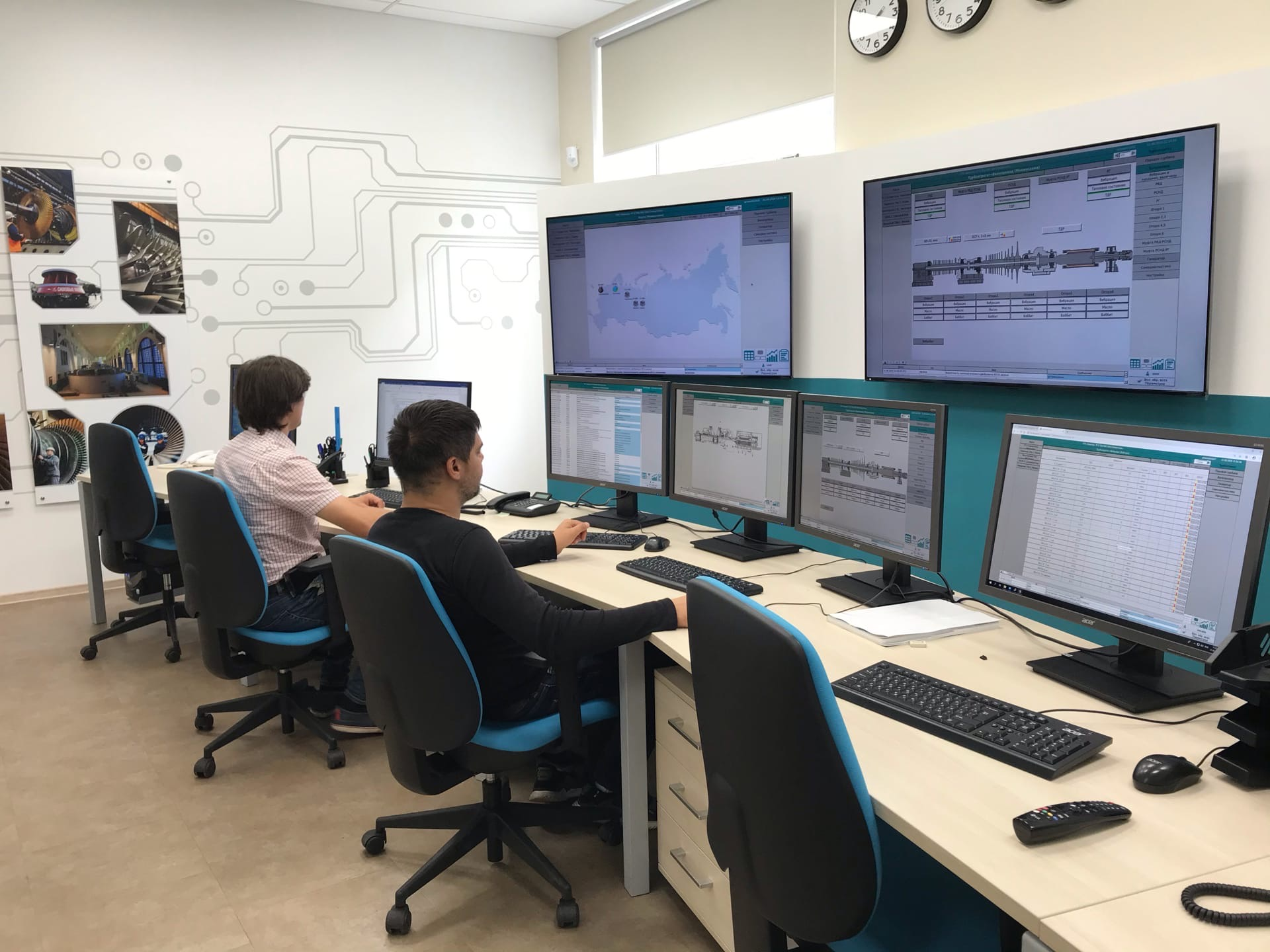 Power Machines have developed their own software and hardware package for the in-process control and diagnostics of power equipment